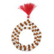 Crystal Rudraksha Mala GJSPC Certified 108+1 Beads