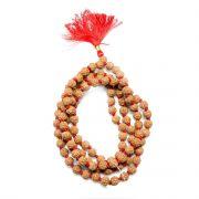 5 Mukhi Rudraksha Mala (Indonesia) (108+1 Beads) GJSPC Certified