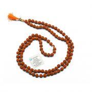 Original 5 Mukhi Rudraksha Jaap Mala (108+1 Beads) GJSPC Certified 6.00 - 6.50 M.M.