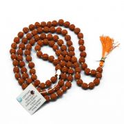 Original 5 Mukhi Rudraksha Jaap Mala (108+1 Beads) GJSPC Certified 6.50 - 7.00 M.M.