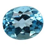 Natural Swiss Blue Topaz Cts. 5.34 Ratti 5.87