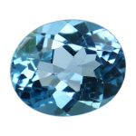 Natural Swiss Blue Topaz Cts. 6.26 Ratti 6.89
