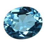 Natural Swiss Blue Topaz Cts. 5.21 Ratti 5.73