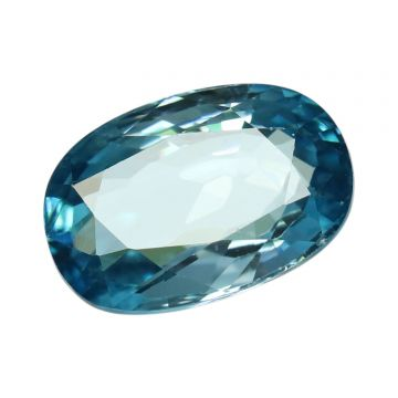 Natural Blue Zircon Cts 7.42 Ratti 8.16