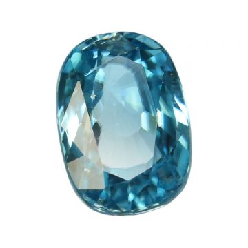 Natural Blue Zircon Cts 6.68 Ratti 7.35