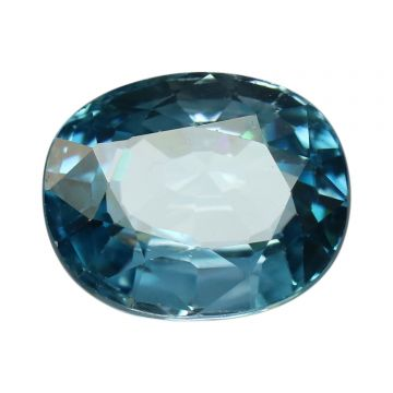 Natural Blue Zircon Cts 6.11 Ratti 6.72