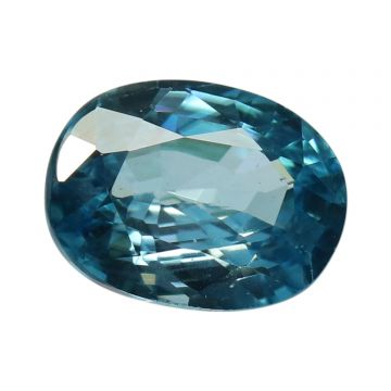 Natural Blue Zircon Cts 5.09 Ratti 5.6