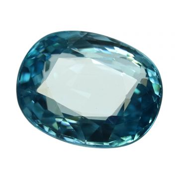 Natural Blue Zircon Cts 6.12 Ratti 6.73