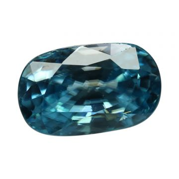 Natural Blue Zircon Cts 8.84 Ratti 9.72