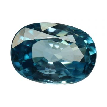 Natural Blue Zircon Cts 5.46 Ratti 6.01