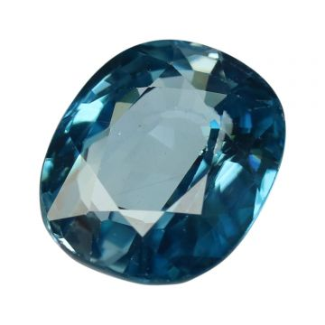 Natural Blue Zircon Cts 7.2 Ratti 7.92