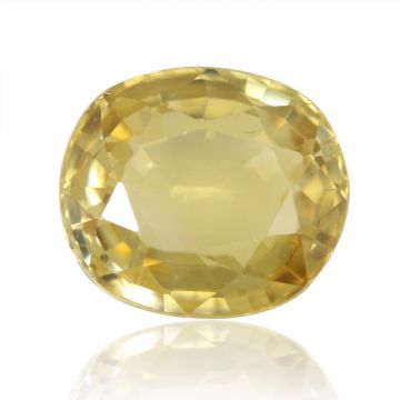 Natural Yellow Zircon AGR Lab Certified  Cts 5.37 Ratti 5.91