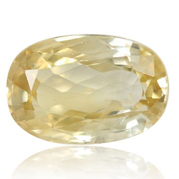 Natural Yellow Zircon AGR Lab Certified  Cts 6.67 Ratti 7.34