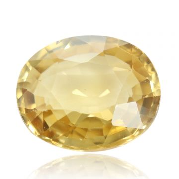 Natural Yellow Zircon AGR Lab Certified  Cts 4.42 Ratti 4.86